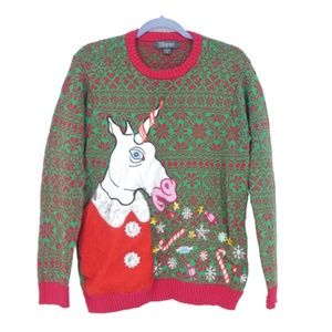 33 Degrees Unicorn Lighted Ugly Christmas Sweater